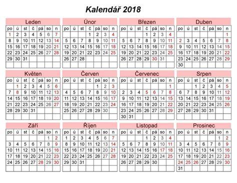 volny kalendar pro tisk   calendar printable  holidays list