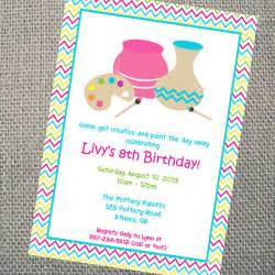 custom printable pottery invitation by cohenlane on etsy