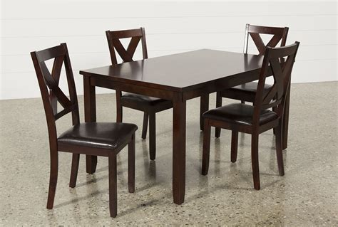 dakota 5 dining table w side chairs living spaces