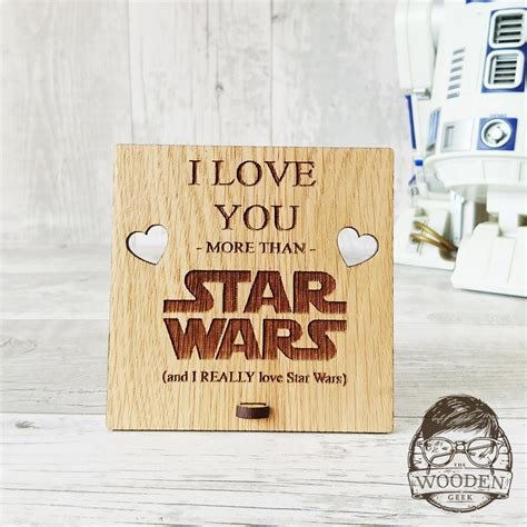 I Love You More Than Star Wars Wooden Plaque   The Wooden Geek