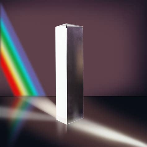 Prism Glass new 6 inch optical glass triangular prism physics teaching