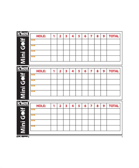 web golf score cards template 10 golf scorecard templates pdf word excel free