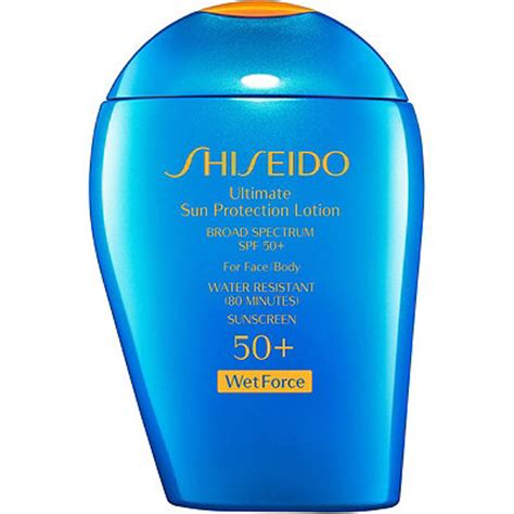 Shiseido Ultimate Sun Protection Lotion ultimate sun protection lotion broad spectrum spf 50 wetforce