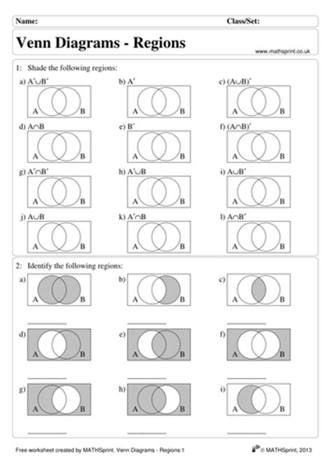 sets shading venn diagrams venn diagrams practice questions solutions by