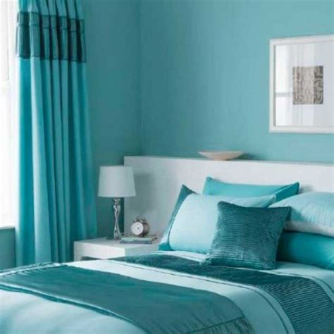 Full turquoise bedroom decorating theme and curtain ideas homescorner com