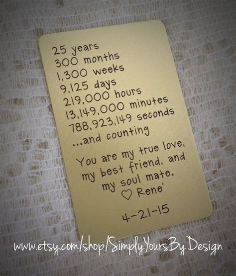 Wedding Anniversary Metals by 25 Best 25th Anniversary Quotes On 25th
