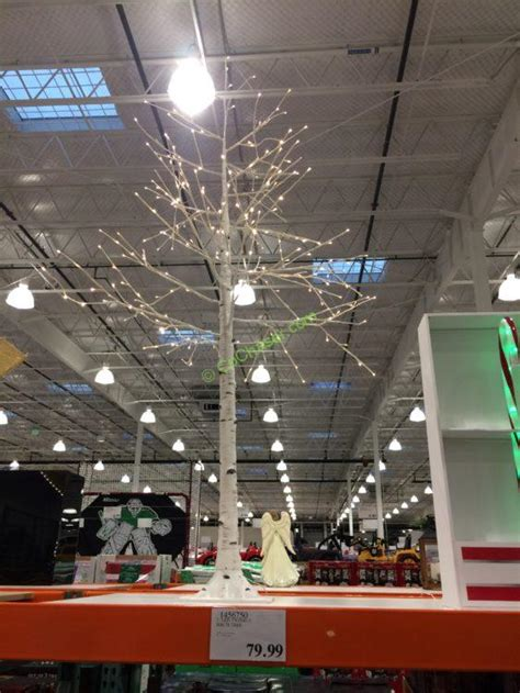 costco white lights 7 led twinkling birch tree costcochaser