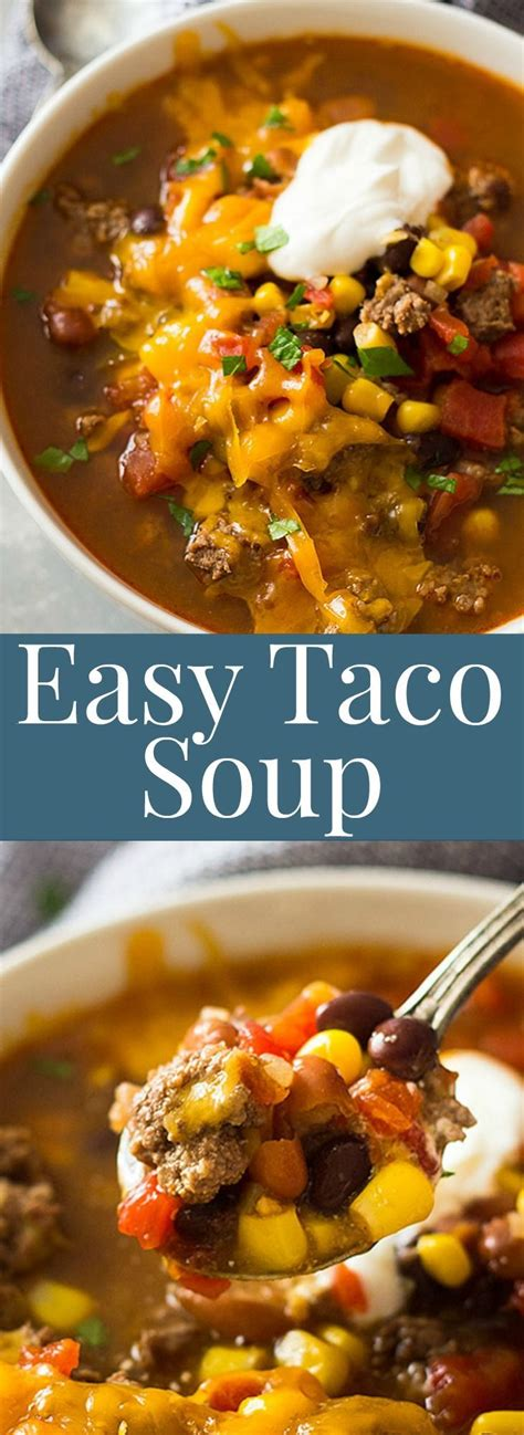 25 best ideas about easy taco soup on pinterest recipe for taco soup taco soup ingredients