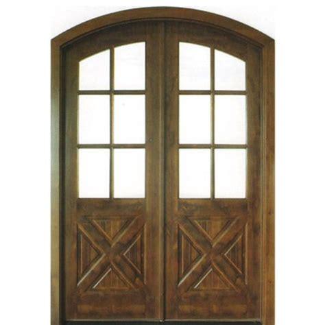 Crossbuck Exterior Door Dsa Doors Havasu E 17 Pre Hung 6 Lite Clear Beveled Glass