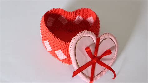 3d Origami Hearts - how to 3d origami box for jewelry part 1