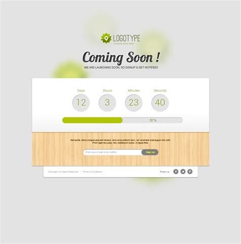 coming soon page template freebies fribly