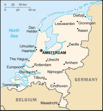 netherlands geography map geography for the netherlands