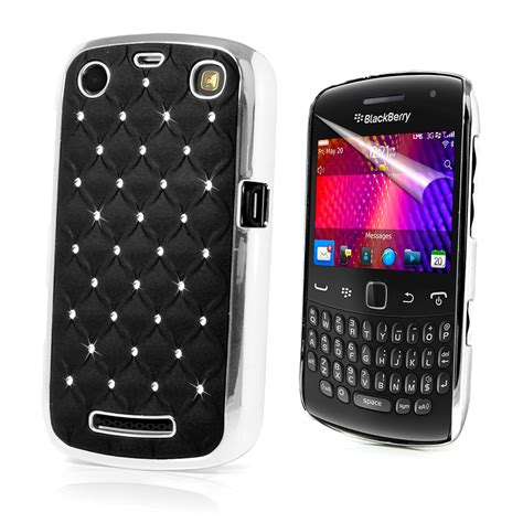 Casing Hp Bb Pearl by Chrome Design Diamante Bling Cover For Blackberry