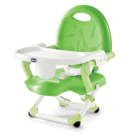 Travel High Chair With Tray Chicco Chicco Pocketsnack Booster Seat Green