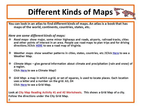 kinds of maps exploring through a webquest ppt