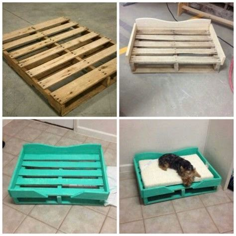 make a dog bed diy pallet dog bed what a great idea looks so easy to