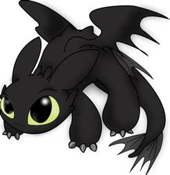 How To Train Your Dragon Wall Stickers chibi toothless how to train your dragon fantasy photo