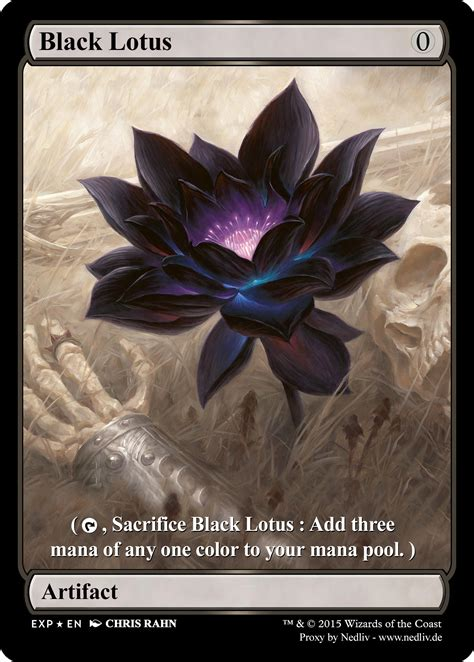 magic gathering black lotus mtg altered fullart proxy black lotus by nedliv on