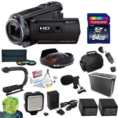 sony hdr pj650 hd digital camcorder/projector with 64gb
