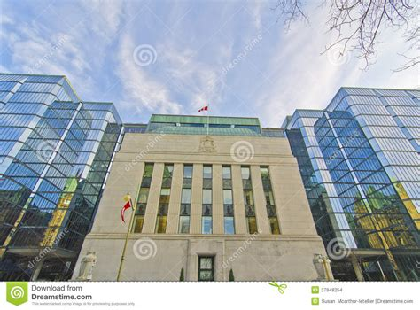canada bank canadian bank of canada ottawa canada editorial stock