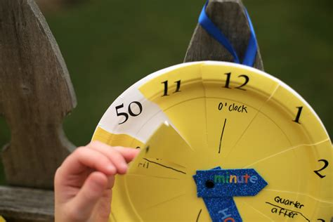 Make Paper Clock - paper plate clock craft 183 kix cereal