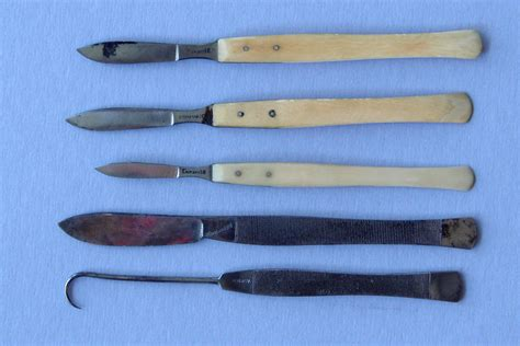 the knife a history of surgery in 28 remarkable operations books tiemann finnel post mortem surgical set c 1860