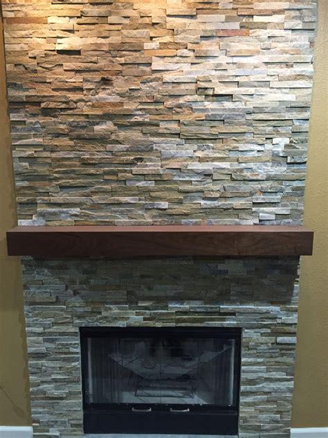 Buy a Hand Crafted Walnut Modern Fireplace Mantel., made