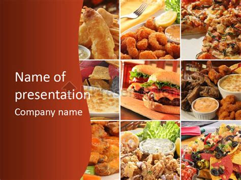 Collage Comida R 225 Pida Plantillas De Powerpoint Id 0000009915 Upresentation Com Fast Food Powerpoint Template