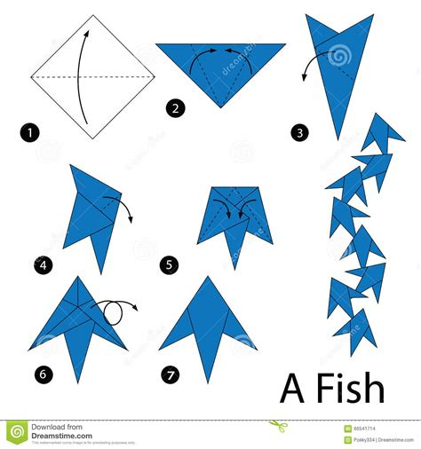 How To Do Origami Fish - step by step how to make origami fish stock