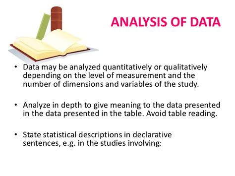 thesis analysis and interpretation of data the thesis and its parts