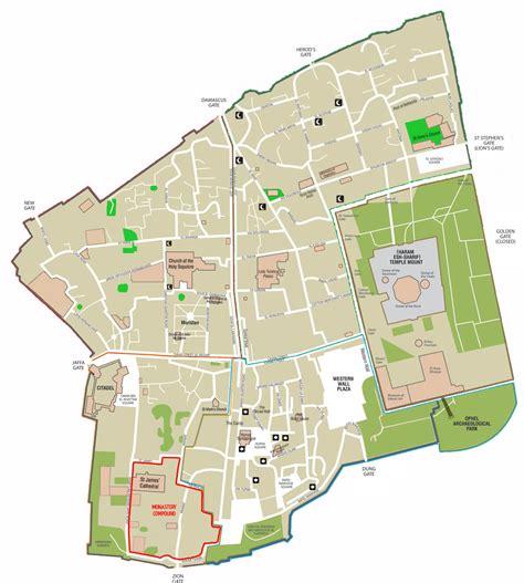 jerusalem city map day 8 jerusalem