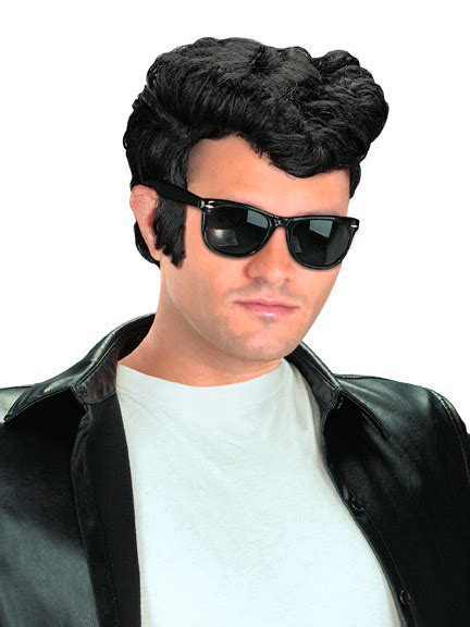 greaser hairstyle product cheap greaser wig black at go4costumes com