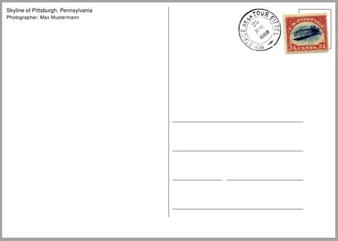Post Card Template Sles And Templates Postcard Template Pdf