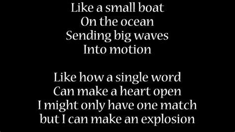 small boat lyrics fight song mit songtext lyrics youtube
