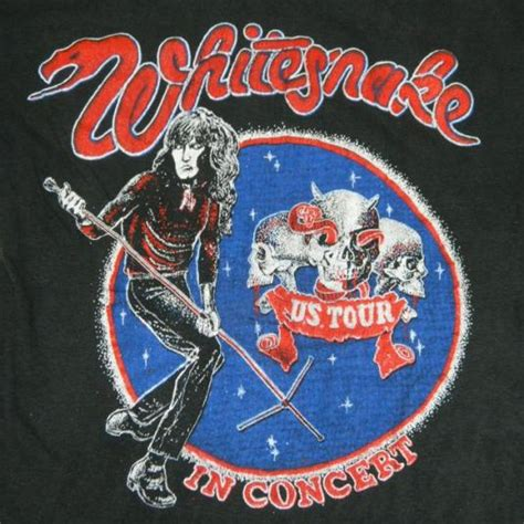 Great White Vintage T Shirt 80 S Tour Concerthard Rock Metal Size S vintage whitesnake tour t shirt late 70s early 80s concert