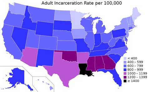 list of all states in usa united states incarceration rate wikipedia