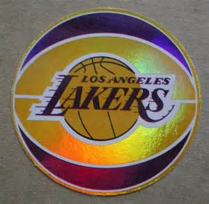 Los angeles lakers decal sticker basketball team logo nba licensed