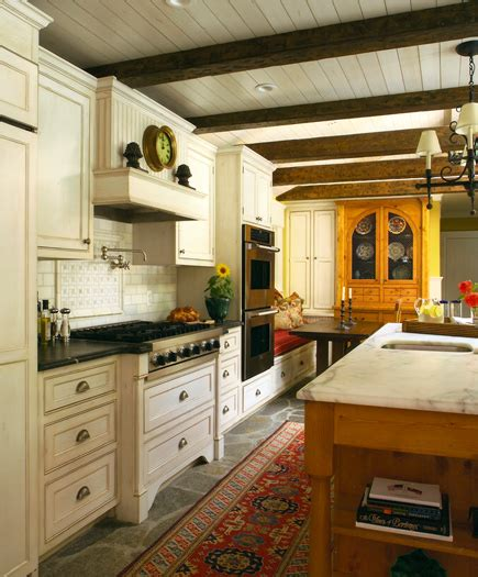 french inspired home rustic ceiling beams  world
