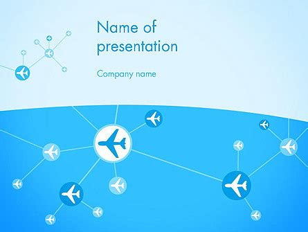 Airlines Theme Powerpoint Template Backgrounds 12189 Poweredtemplate Com Airline Powerpoint Templates