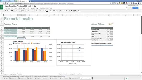 Fundamental Analysis Spreadsheet by Stock Fundamental Analysis Spreadsheet Free Templates