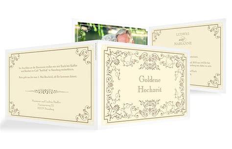 Einladung Zur Goldenen Hochzeit by Einladungskarten F 252 R Die Goldene Hochzeit Edel Individuell