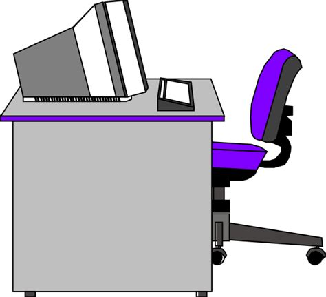 free office clipart office desk clip at clker vector clip