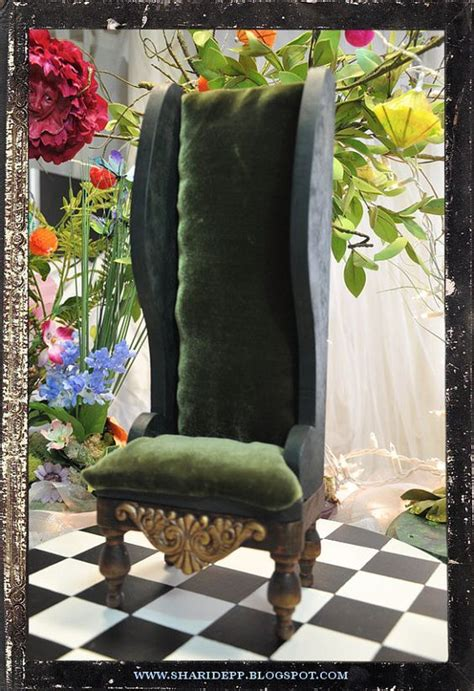 mad hatter chair handmade wood and upholstered in mad