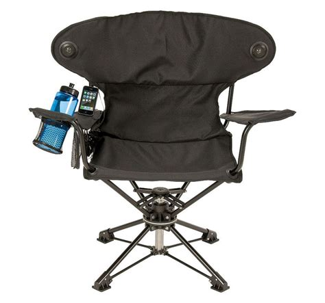 Portable Chair by Revolve Chair Swiveling Portable Chair With Speakers