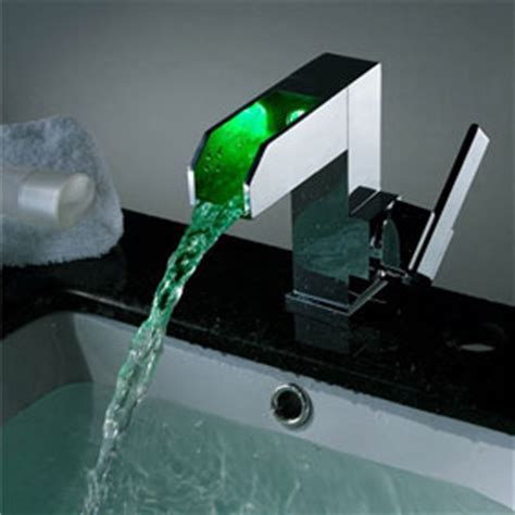 how to change bathroom sink taps contemporary color changing led pop up waste waterfall bathroom sink tap t8004b