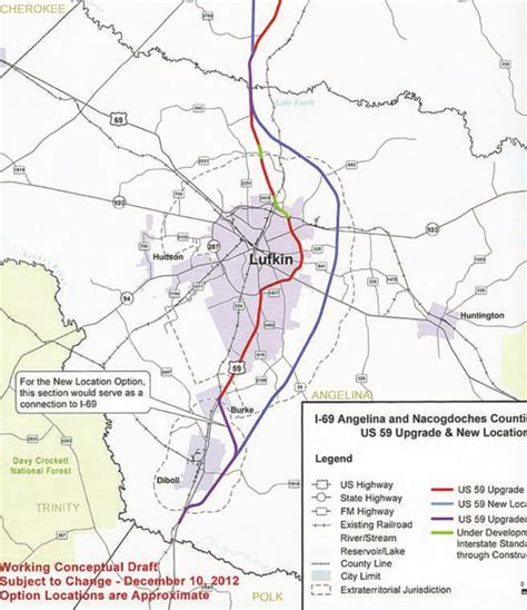 i 69 texas corridor map communication strategies for interstate 69 project way the lufkin news local state