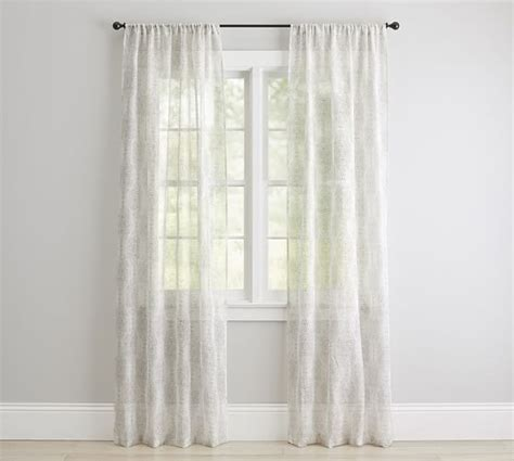 sheer curtains pottery barn reeta print sheer drape pottery barn