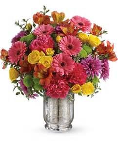 Flower Mylar Balloons - teleflora s pleased as punch bouquet flowers teleflora s