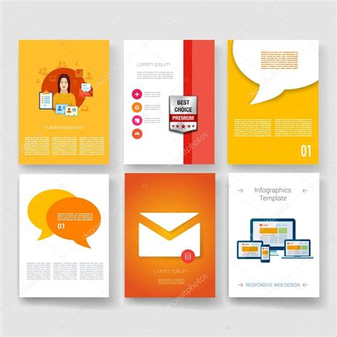 modern brochure templates vector brochure design templates collection applications
