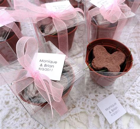 Butterfly Giveaways - grow birthday party favors butterfly seed flower pot favor box